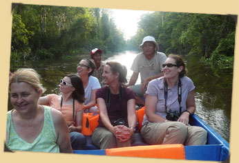 Ecotourism - River touring in Indonesia